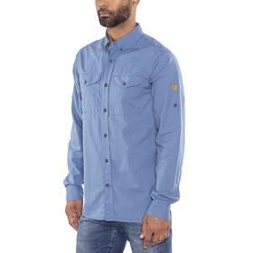 Fjällräven Övik Lite - Camiseta de manga larga Hombre - azul